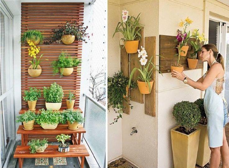 Lindas ideias para um jardim suspenso  Jardim  Pinterest