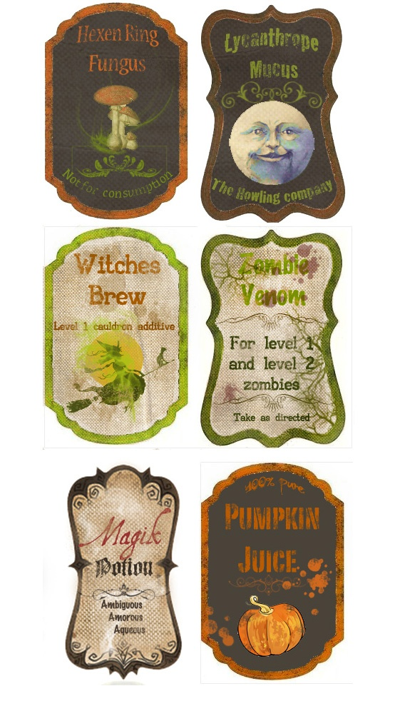 I LOVE these labels - they could be used for so many things!  Scrapbooks, cards, bottles, mason jars, framed....ok, stop me now! :)
