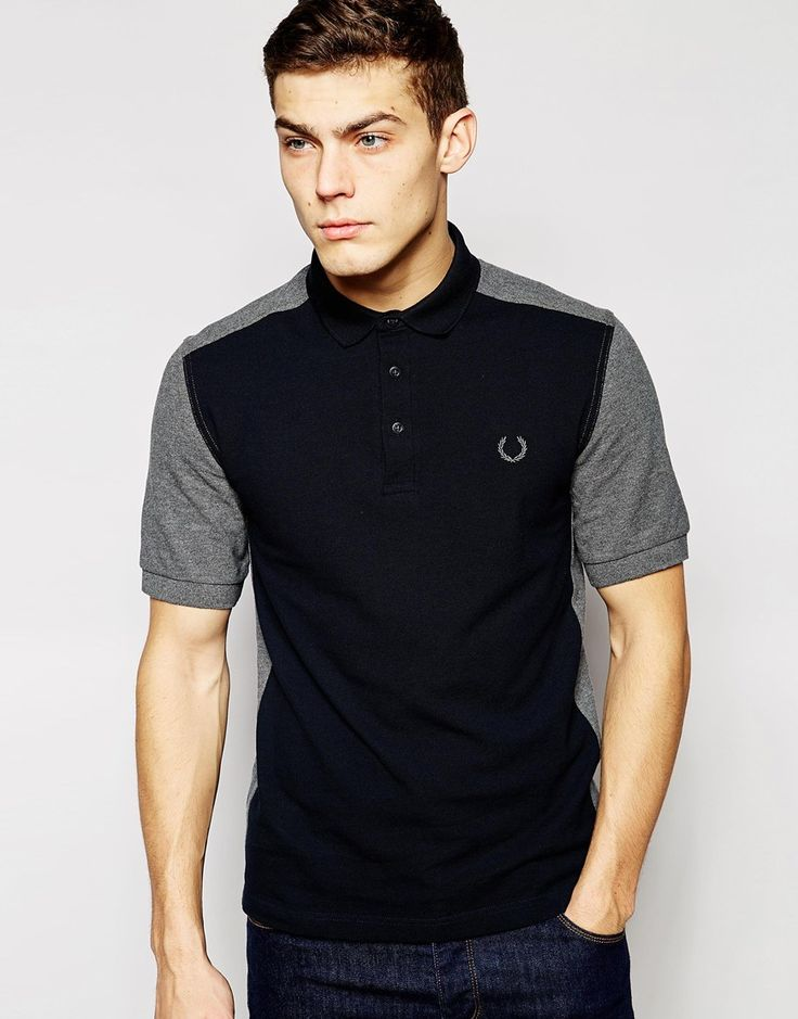 Image 1 ofFred Perry Laurel Wreath Polo with Colour Block