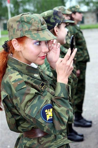 Miss Russian Army is a beauty contest held by the Russian army.  It is admittedly staged for the purposes of increasing interest in and recruitment for the army among young men.