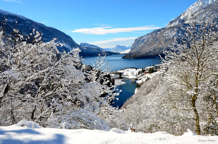 Lago di Molveno in inverno #Winter in Molveno