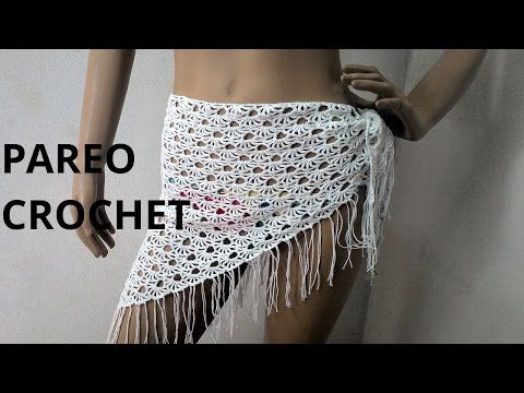Pareo – salida de baño tejido a crochet (ganchillo) - YouTube