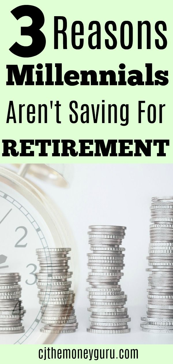 Many Millennials are not saving for retirement. We all know that saving for retirement should be on everyone's financial To Do list. We've been told this advice from every financial expert in the world. However, Millennials are not putting any money away for when they are old and grey.