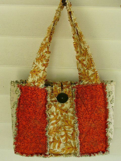 Fall Foliage New Style Rag Quilt Purse RQQ by Ashlawnfarms on Etsy, $35.00