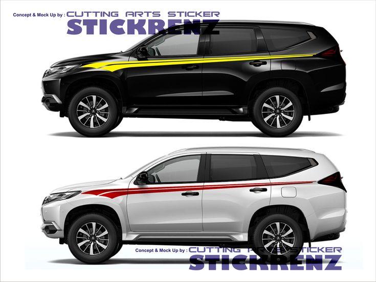 Car Custom Side Cutting Sticker Concept - Pajero 006