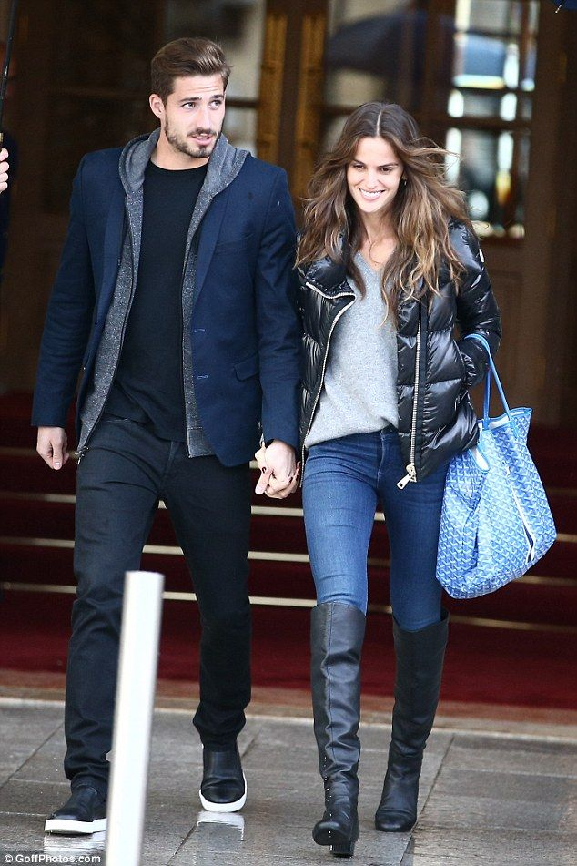 Loved-up: Izabel Goulart and her handsome boyfriend Kevin Trapp were returning to the scene of their first encounter, enjoying a romantic trip to Paris on Friday