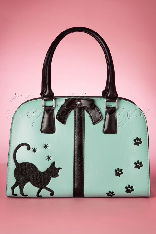 Vixen TopVintage Exclusive ~ 50s Follow Me Kitty Handbag in Mint