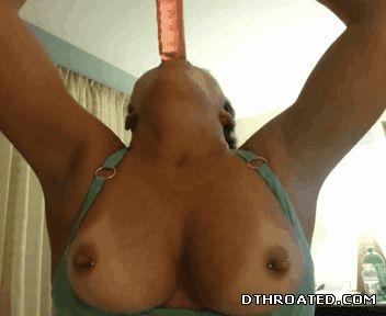 Deep throat dildo practice 10