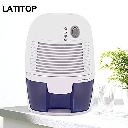 LATITOP Mini Electric Dehumidifier with 500ml Water Tank Auto-off Quiet Operation Peltier Technology for Small Room Basements Bathroom Bedroom Closet RV Laundry Room and Kitchen