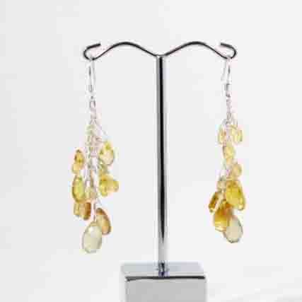 Jenny Whitmore Earrings Sapphire & Citrine & Quartz Sterling Silver