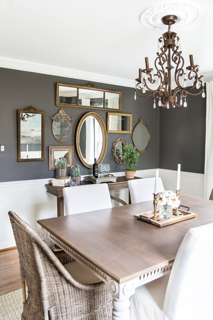 Mirror Gallery Wall Inspiration Eclectic Dining Room Mirror Dining Room Farmhouse Style Dining Room