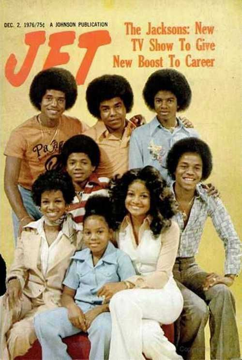 "The Jackson Family on ""Jet"" Magazine (December 2, 1976) (L-R from the Top Jackie Jackson, Tito Jackson, Michael Jackson, Randy Jackson, Rebbie Jackson, Janet Jackson, La Toya Jackson, and Marlon Jackson.)"