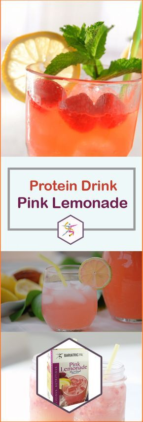 BariatricPal Pink Lemonade Cold Protein Drink has the sweet-tart taste you crave in pink lemonade, but none of the sugar. It's a satisfying treat on its own, or you can blend it with non-fat yogurt for a thick fruity shake.