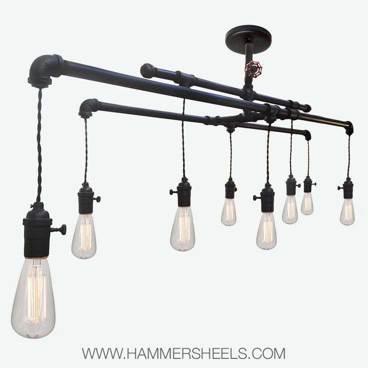 Industrial Lighting Rustic Chandelier Iron Pipe Ceiling: 17 Best Images About Industrial Collection- Rustic Pipe