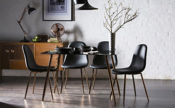 Horizon Black Glass Dining Table 120cm Only £149.99 | Furniture Choice