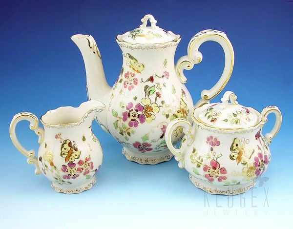 Zsolnay porcelain with Butterfly design