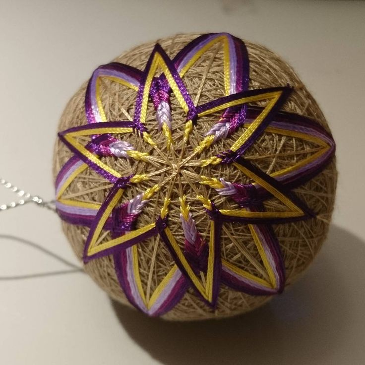 "6 Likes, 1 Comments - Raluca Ioana Simonffy (@ralucamorena) on Instagram: ""2 #flowers #temari #ball #xmasdecorations #crafts #craftsuk #handmade #handcraft #xmas #xmastree…"""