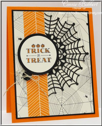 Spider Web Doily On Top Of Patterned Web Paper Sets The Tone For This  Handmade Halloween