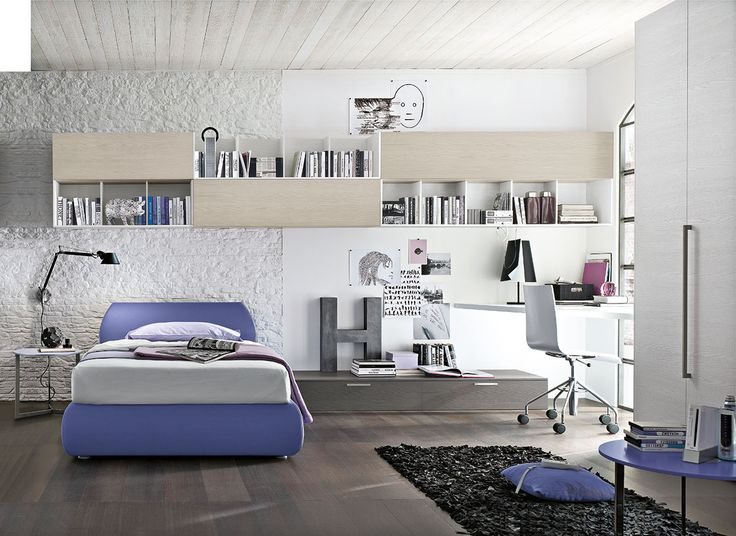 Composizione T12 con letto Sasso e tavolino Joy | Gruppo Tomasella