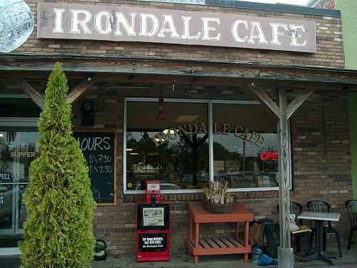 Irondale Cafe truly the original Whistlestop Cafe since 1928. Fannie Flagg's inspiration for the novel Fried Green Tomatoes at the Whistlestop Cafe in Irondale, Alabama