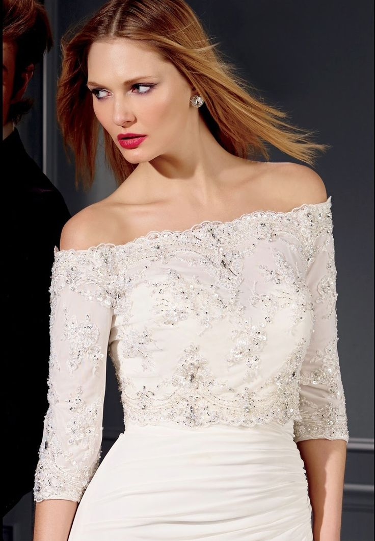 Style * 7011 * » Bridal Tops » Vegas Fall 2014 Collection » by Claudine for Alyce Paris » Available Colours : Ivory, White ~ Also available to Mix & Match with any of the Vegas Destination Wedding Dresses