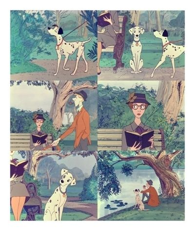 101 Dalmations.  I love the one of them in the park when they first meet.