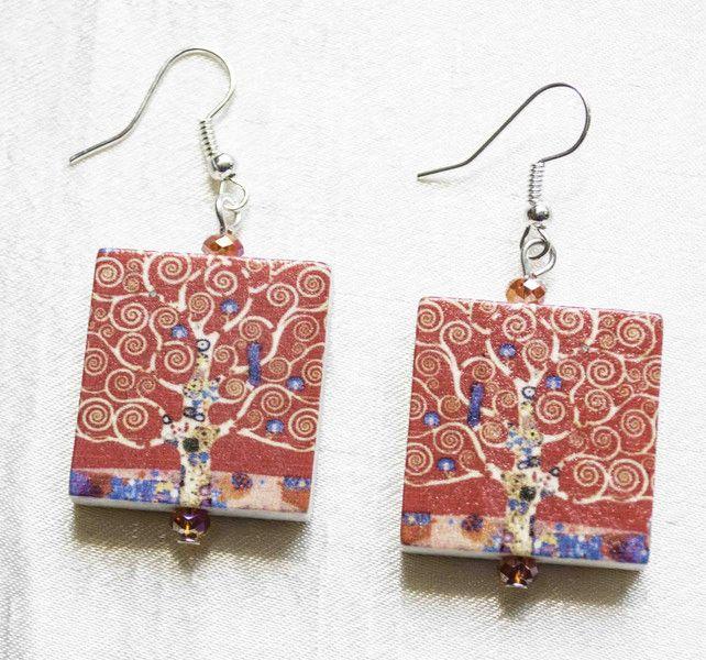 Wooden+Jewelry++Handcrafted+Vintage+Earring++from+Unikacreazioni+by+DaWanda.com