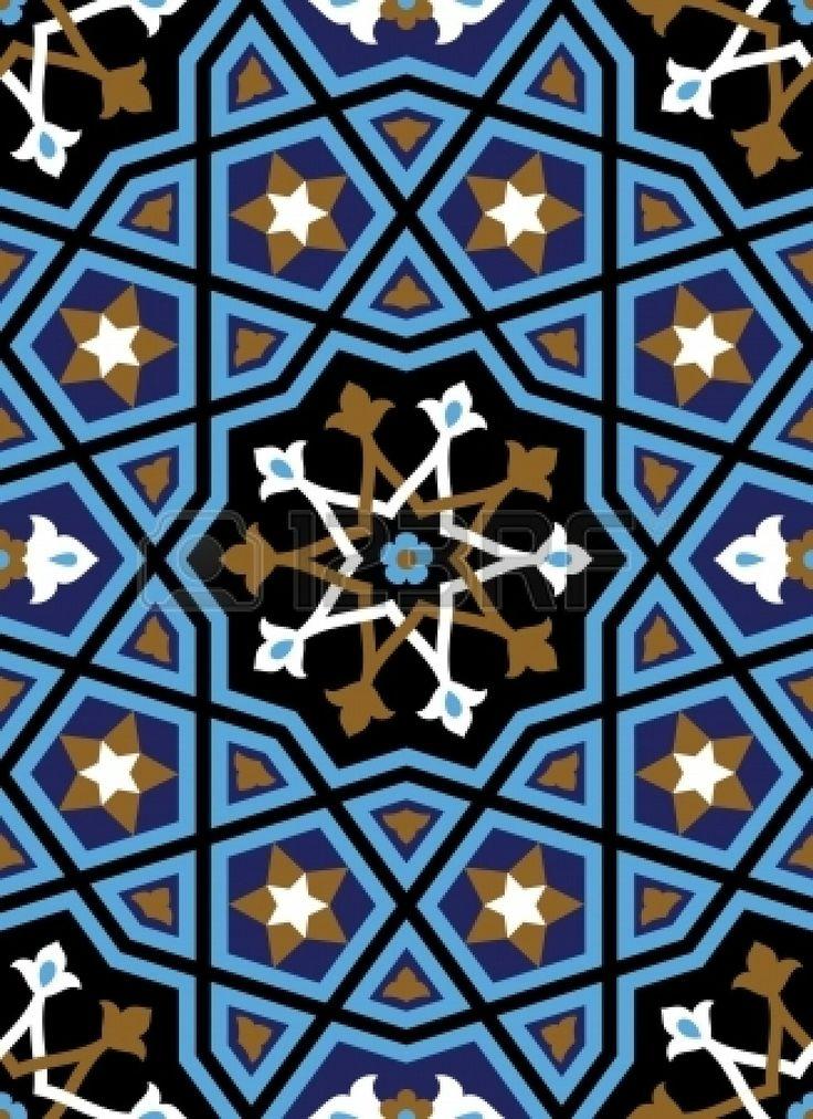 nahtlose sechseckigen muster im arabischen stil  islamic