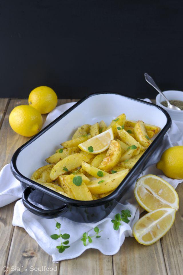 Ofenkartoffeln mit Zitrone {Patates lemonates sto fourno}