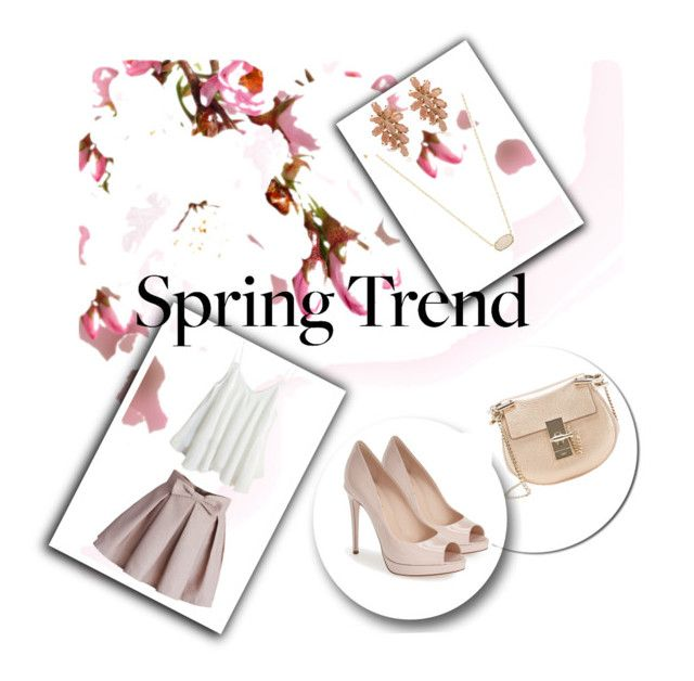 """""""April"""" by roxi-ruzsa on Polyvore featuring Chloé, Chicwish, Kendra Scott and Fendi"""