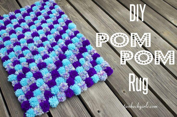 Two Keck Girls | DIY Pom Pom Rug | http://twokeckgirls.com