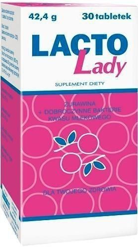 LACTO LADY x 30 tablets, feminine hygiene, probiotics for women