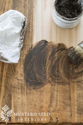 ANTIQUING WAX | adding instant age to raw wood | Miss Mustard Seeds Milk Paint