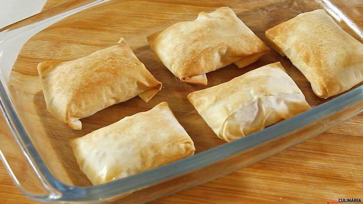 Receita de folhados de queijo de cabra com compota de abóbora. Descubra como preparar esta receita de maneira prática e deliciosa com a TeleCulinária!
