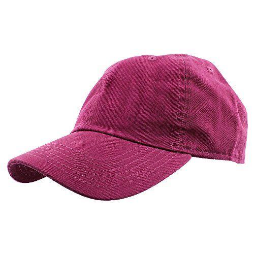 Falari Women's Baseball Cap Hat 100% Cotton Adjustable Size Fuchsia - http://todays-shopping.xyz/2016/05/21/falari-womens-baseball-cap-hat-100-cotton-adjustable-size-fuchsia/