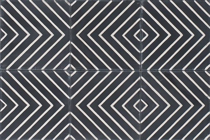 Marokkan Tiles | Arrow black | Marokk