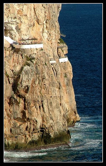 Cova de'n Xoroi, Menorca, Spain There is almost no limit for man, unless God says so.