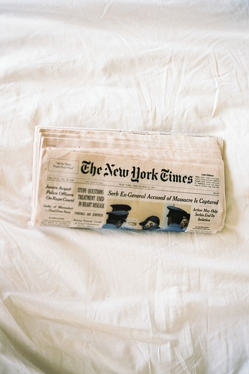 Lazy mornings spent reading the weekend papers