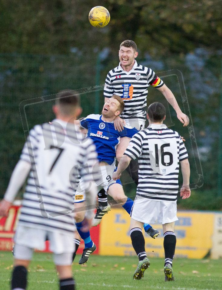 Queen's Park's Ryan McGeever in action during the Ladbrokes League One game between Stranraer and Queen's Park.