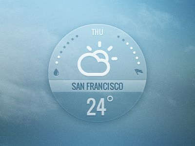 "Weather widget | Designer: InnovationBox    Organizing information in a ""bubble"""