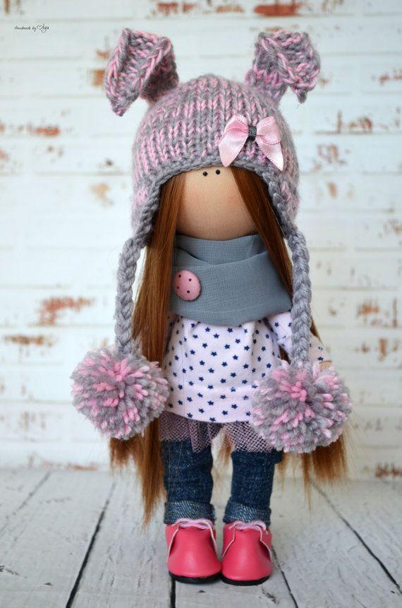 Fabric doll Interior doll Rag doll Art doll Handmade doll
