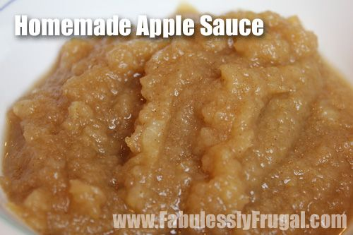 Making your own applesauce is so easy. This homemade applesauce can be made in less than 20 minutes.     http://fabulesslyfrugal.com/2012/11/how-to-make-apple-sauce.html