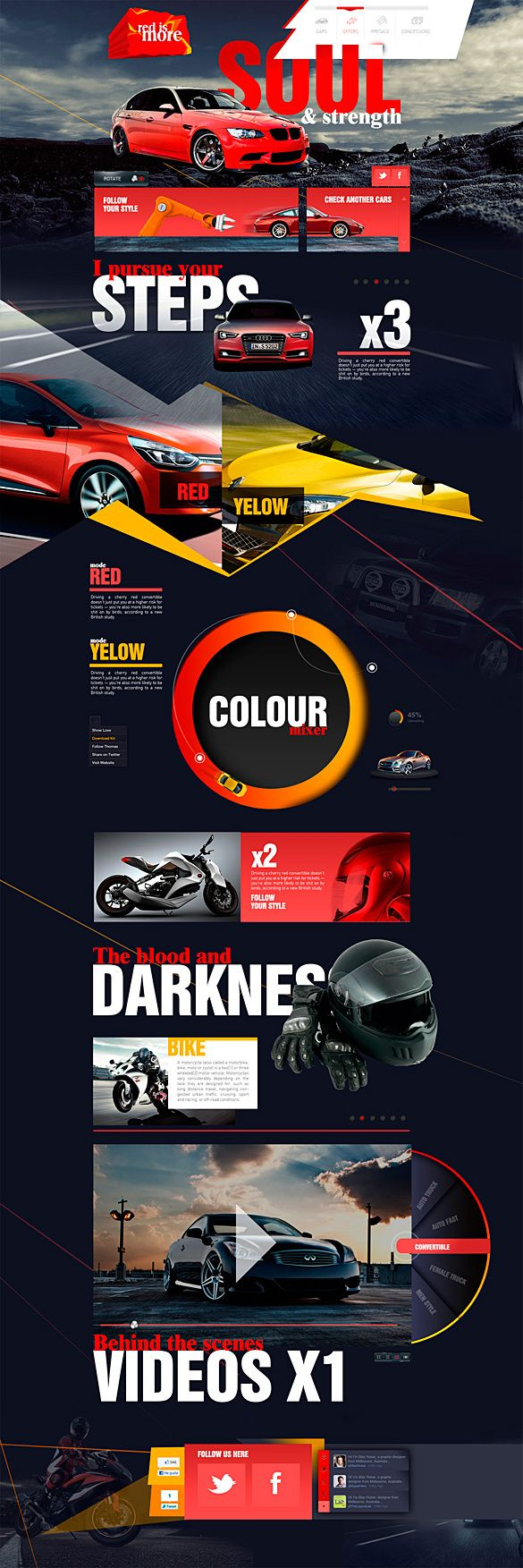 Cool Automotive Web Design on the Internet. Red is More - Color Projects. #automotive #webdesign #webdevelopment #website