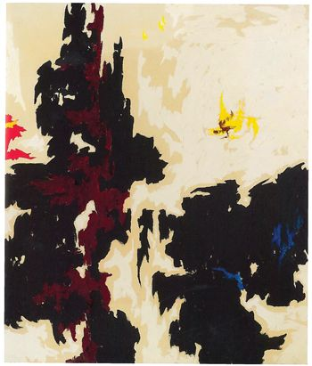 Clyfford Still, PH-584 (1947-Y-No.2), 1947. ©CITY AND COUNTY OF DENVER/ ARTIST RIGHTS SOCIETY (ARS), NEW YORK/COURTESY CLYFFORD STILL MUSEUM/PRIVATE COLLECTION