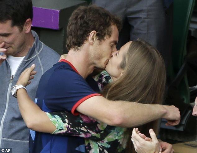 Kim Sears Olympics Andy Murray kiss