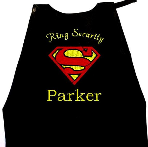 Boy's Ring Bearer Superman Cape Embroidered by RidgeTopEmbroidery, $28.00