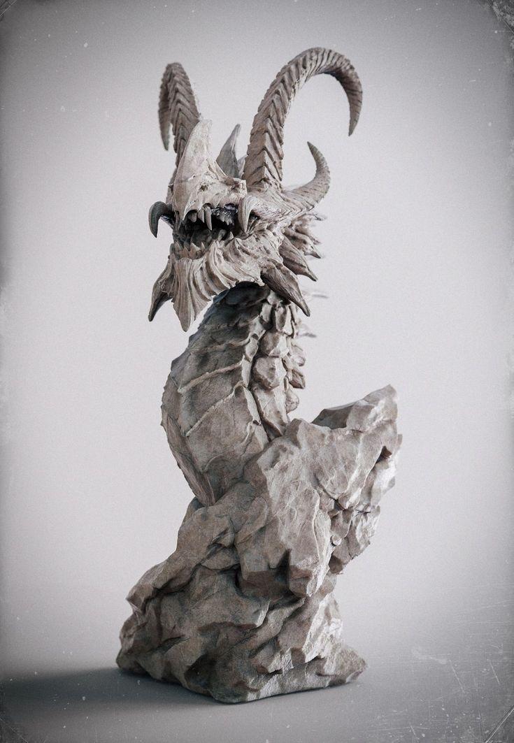 Dragon-beauty render, Zhelong XU on ArtStation at http://www.artstation.com/artwork/dragin-beauty-render