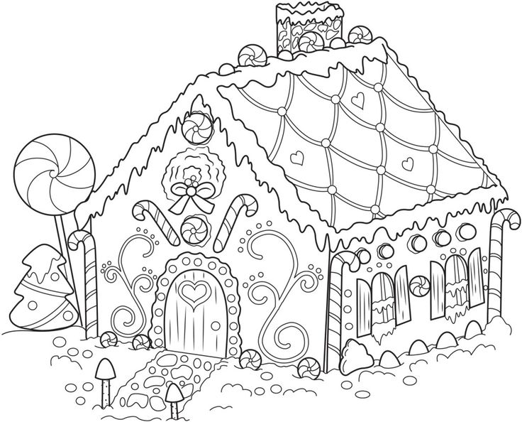 Gingerbread House Coloring Pages printable coloring pages, sheets for kids. Description from pinterest.com. I searched for this on bing.com/images
