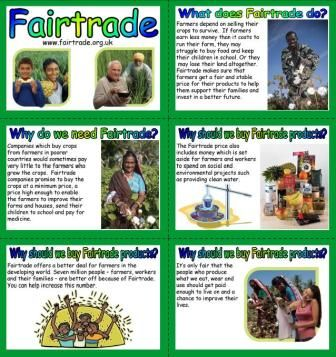 FREE printable PHSE Fairtrade Display Resource Posters, What is Fairtrade? Why do we need Fairtrade? Bulletin board display for the classroom
