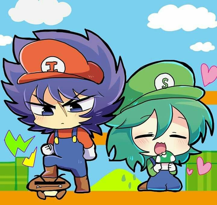 Ikki & Shun dress like Mario and Luigi,THIS IS SUPERRR CUTEE!!!